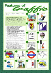 English Worksheet: Features of traffic