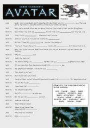 English Worksheet: Avatar The Movie