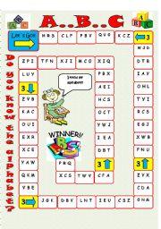 English Worksheets: ALPHABET  board game
