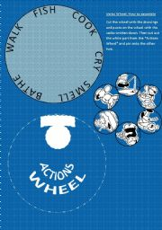 English Worksheets: Verbs Wheel #2
