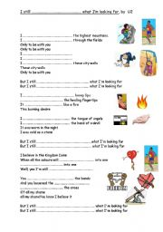 English Worksheets: U2 song: I still ahven�t found What I�m looking for.