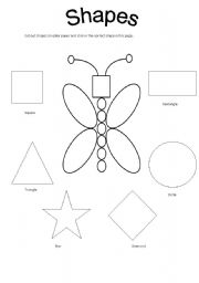 English teaching worksheets: Shapes