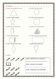 English worksheet: Color and Draw