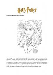 English Worksheets: Hermione Granger reading comprehension