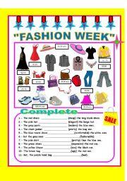 English Worksheet: fASHION WEEK!