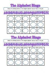 The alphabet bingo