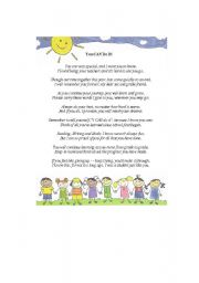 English Worksheet: End of the Year Poem