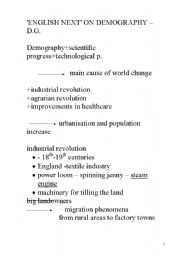 English Worksheets: LESSON: demography