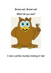 English Worksheets: Brown Owl