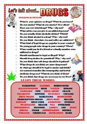 English teaching worksheets: Drugs