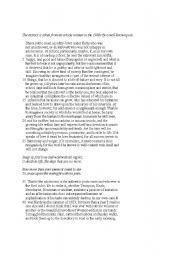 English Worksheets: reading comprehension 5