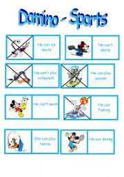 sports can can t domino esl worksheet by teacher paty. Black Bedroom Furniture Sets. Home Design Ideas