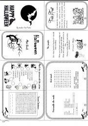 English Worksheet: Halloween mini book