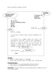 english worksheet writing a formal letter