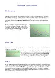 Business ws on Charts/Graphs and Marketing vocabulary