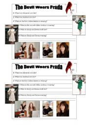 english worksheet the devil wears prada. Black Bedroom Furniture Sets. Home Design Ideas