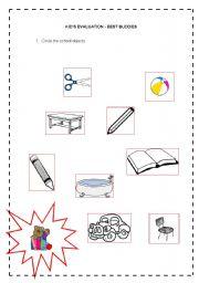 English Worksheets: Kid�s evaluation