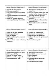 English Worksheets: Comprehension Questio