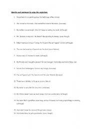 English Worksheets: Conjuctions