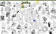 English Worksheet: jobs crossword