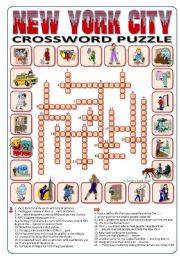 New York City Crossword Puzzle 24 words