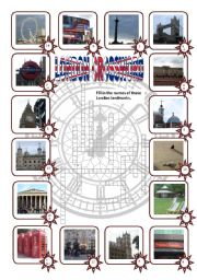 English Worksheets: London - Crossword puzzle (editable, key included)