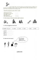 English Worksheets: for beginners