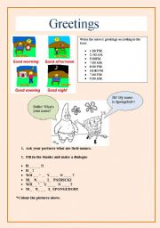 English Worksheets: GREETINGS. iNTRODUCING YOURSELF.