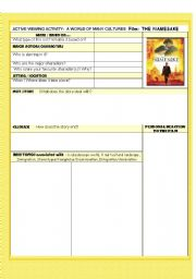 English Worksheets: MOVIE :THE NAMESAKE   (WITH KEY)INCLUDED