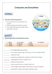 English Worksheets: Ubiquotous Computing