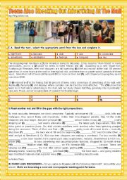 English Worksheet: TEENS� LIFE - TEENS ALSO CHECKING OUT ADVERTISING AT THE MALL