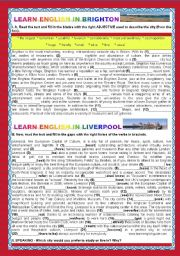 A TOUR AROUND ENGLISH SPEAKING COUNTRIES- ENGLAND-BRIGHTON AND LIVERPOOL