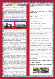 A TOUR AROUND ENGLISH SPEAKING COUNTRIES- ENGLAND- LONDON