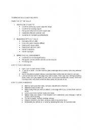 English Worksheets: telephone skills