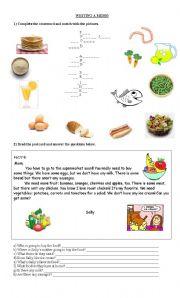 English Worksheets: WRITING A MEMO