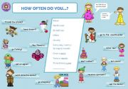 English Worksheets: How often do you ....?