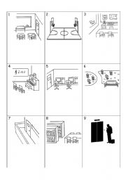 English Worksheets: Matching key words with pictures