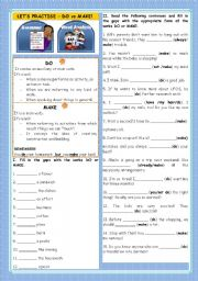 English Worksheets: LET�S PRACTISE : DO vs MAKE!