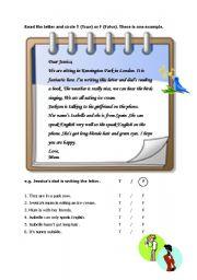 English Worksheets: reaidng