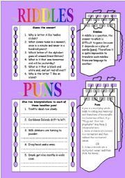 English Worksheets: Spot the puns!!!