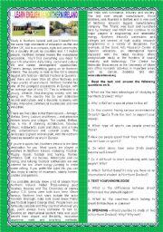 English Worksheet: A TOUR AROUND ENGLISH SPEAKING COUNTRIES - NORTHERN IRELAND