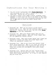 English Worksheets: Being Aggressive