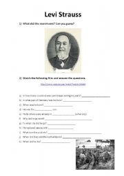 English Worksheets: Levi Strauss (part 1)