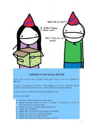 English Worksheet: LESSON: CAREERS IN THE SOCIAL SECTOR