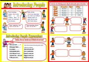 English Worksheets: Introducing people