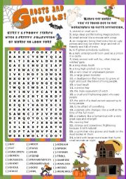English Worksheets: GHOSTS AND GHOULS