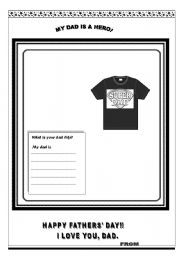 English Worksheets: Happy fathers� day