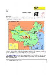 english worksheet ancient china activity guide