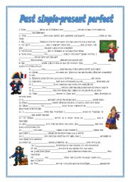 English Worksheet: Past simple-present perfect