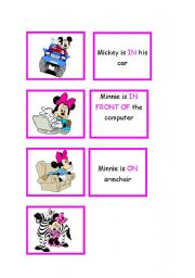 English Worksheet: Memory Game --> Prepositions -- Part 03